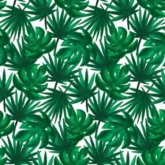 Tropic Leaf Seamless Pattern