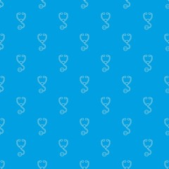 Stethoscope pattern vector seamless blue repeat for any use