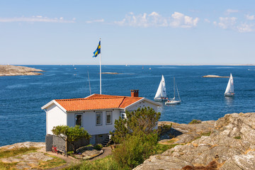 Cottage by the sea on the Swedish west coast