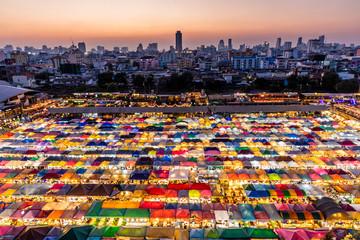 Colored night Thai market