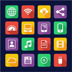 Download Icons Flat Design
