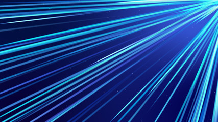 Blue  streak Lines of Light Technology Abstract Background. Abstract  background.