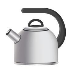 Silver Model of Kitchen Kettle Vector Illustration