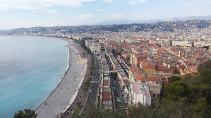 The view of Nice, France.