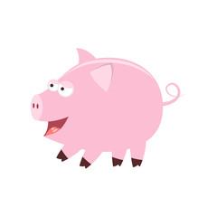 Cute cartoon pig. Farm animals. Vector illustration isolated on