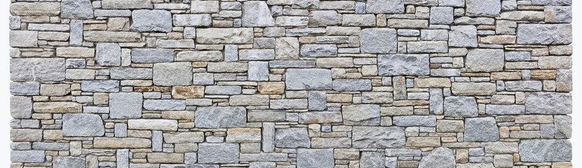 Schöne rustikale Natursteinmauer