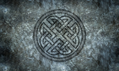 Celtic or Norse Knotwork in Stone