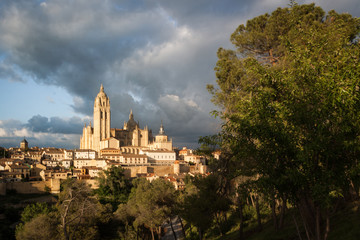 Catedral de Santa Maria de Segovia in the historic city of Segovia, Castilla y Leon, Spain