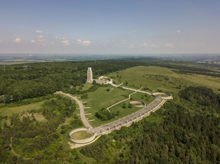 Aerial view of the National GDR Memorial near Buchenwald concentration camp