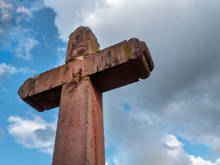 Old Christian Holly Cross. Christianity inspires in Germany