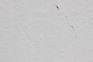 White Concrete Wall Background with crack