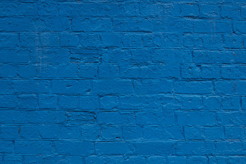 blue brick wall, background