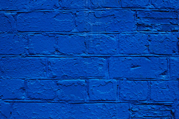 blue brick wall, background