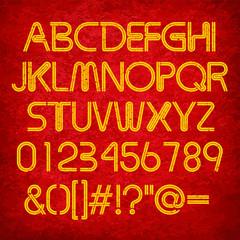 Grunge Double Stripe Font