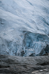 Blue Ice Glacier in Norway