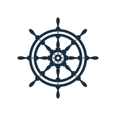 Ship wheel icon design