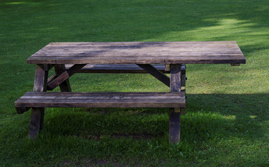 Picnic table for wheelchair users