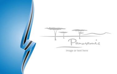 Botswana abstract flag brochure cover poster background vector