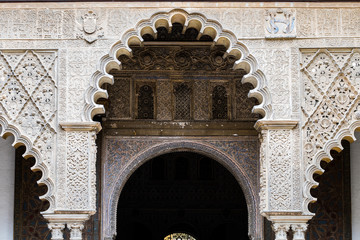 architecture of real alcazar of Seville, Spain