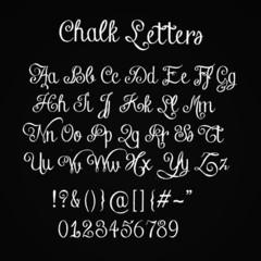 Chalk Lettering on Black board