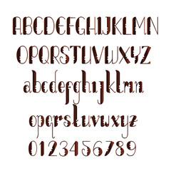 Wooden texture alphabet