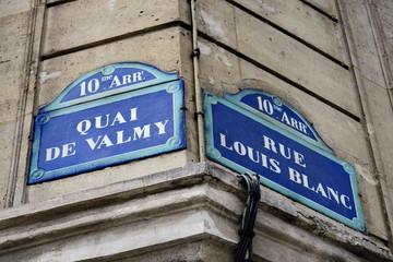 Quai de Valmy rue Louis Blanc croisement