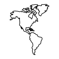 line global america map geography continent