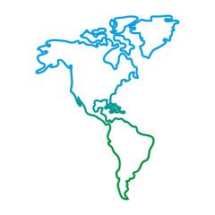 degraded line global america map geography continent