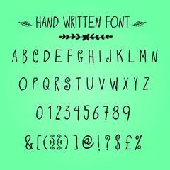 Hand written font