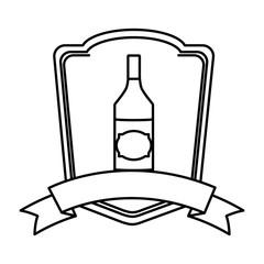 line schnapps liquor bottle beverage emblem