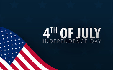 Fourth of July. 4th of July. Independence Day of the USA. Vector illustration