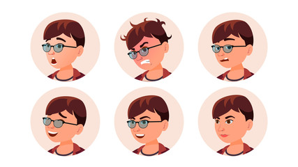 Avatar Icon Woman Vector. Round Portrait. Cute Employer. Isolated Flat Cartoon Illustration