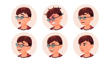 Avatar Icon Woman Vector. Round Portrait. Cute Employer. Isolated Flat Cartoon Illustration