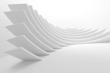 Fotobehang - Abstract Architecture Design. White Futuristic Interior Background