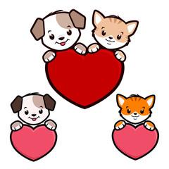 Cartoon Dog Cat Icon