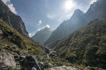 Aussicht im Himalaya
