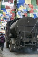 Thamel Kathmandu Strassenbau