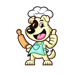 Cooking Dog Mascot Design Vector
