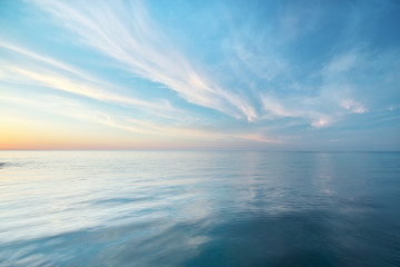 Beautiful seascape reflection. Fototapete