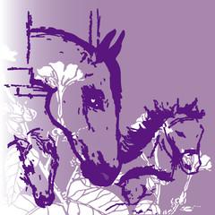 horses background 2