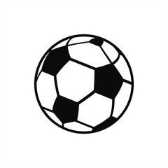 Football soccer flat icon logo, world cup Russia 2018, ball