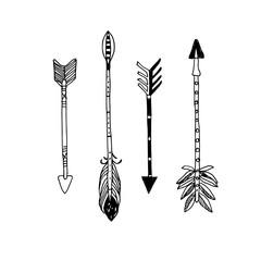 Decorative hand drawn arrows
