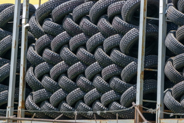 Tire storage container