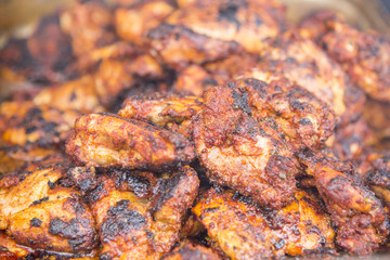Spicy Grilled Jerk Chicken on the barbecue