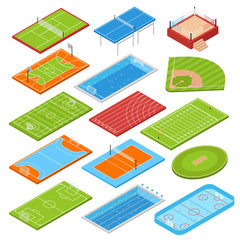 Sport Fields Isometric Set