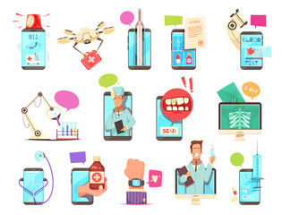 Digital Health Medical Technologies Set