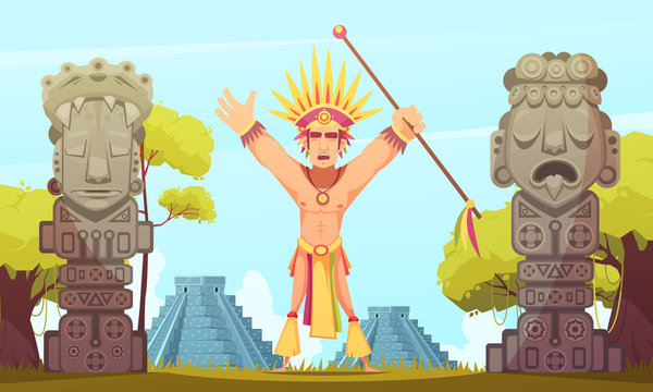 Maya Cartoon Illustration