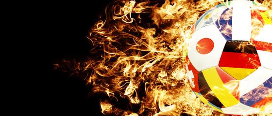 Fussball im Feuerinferno