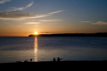 Sunset watchers at Semiahmoo Bay - 1