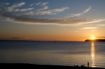 Sunset watchers at Semiahmoo Bay - 2